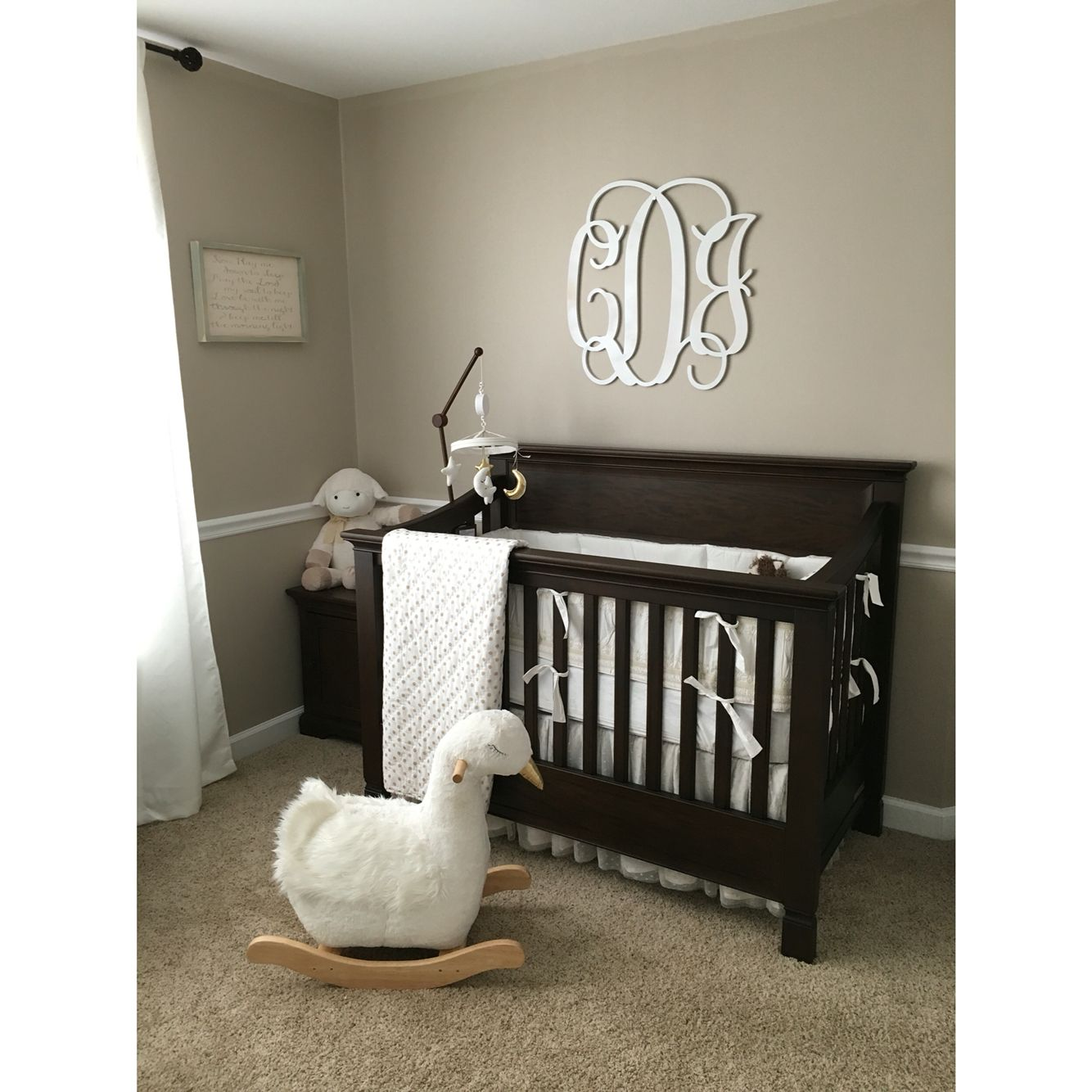 pottery barn baby rocking chair mahogany dining room table and 8 chairs kids larkin crib swan rocker tan