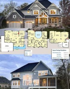 Plan hs modern storybook craftsman house with story great room plans square feet and living spaces also rh uk pinterest