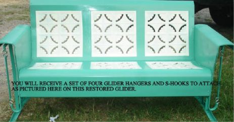 vintage glider cushions  Old Metal Porch Glider Parts