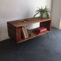 Large Rustic Industrial Record Player/ Vinyl Storage ...
