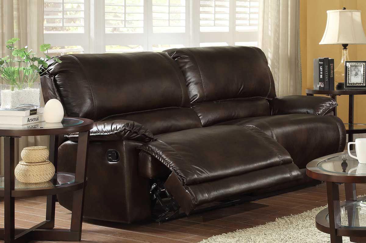 dark brown microfiber sofa bradington young leather recliner homelegance elsie double reclining
