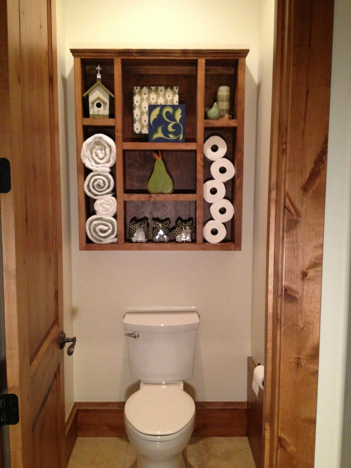 Ideas Bathroom Shelves Dad Built This Bathroom Shelf This Would Totally Be A