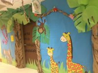 Africa themed kindergarten door decoration. Classroom door ...