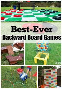 Best-Ever Backyard Board Games | Barn, Utomhus och Kreativ