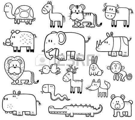 Ilustraci n vectorial de dibujos animados de animales