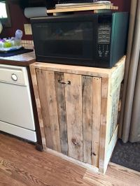 Trash Can Holder (double)   Pallets, Kitchens and House