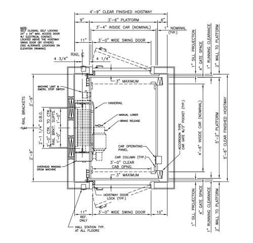 small resolution of cable drive drawings custom elevator home elevators for residential wiring materials list