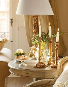 Gorgeous lamp and candlesticks home decor christmas also pin by sparkly gold on luxury  glamour pinterest rh