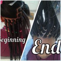 Rubber bands Box braids | Hair and Nails | Pinterest ...