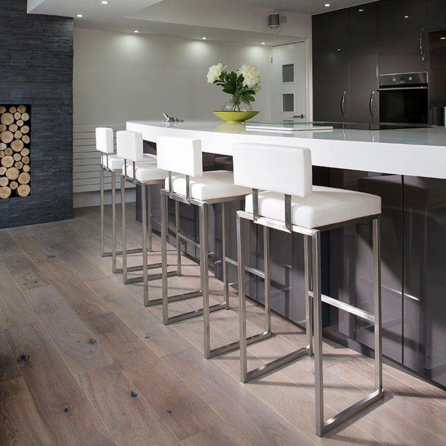 White Kitchen Bar Stools