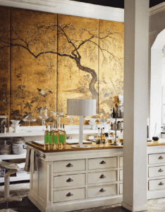 Home decor in chinese chippendale style gold chinoiserie panels the kitchen also unexpected interiors march asian influence and open shelves rh pinterest