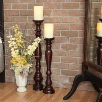 Hartford Wooden Stand with Flameless Candle | Floor candle ...