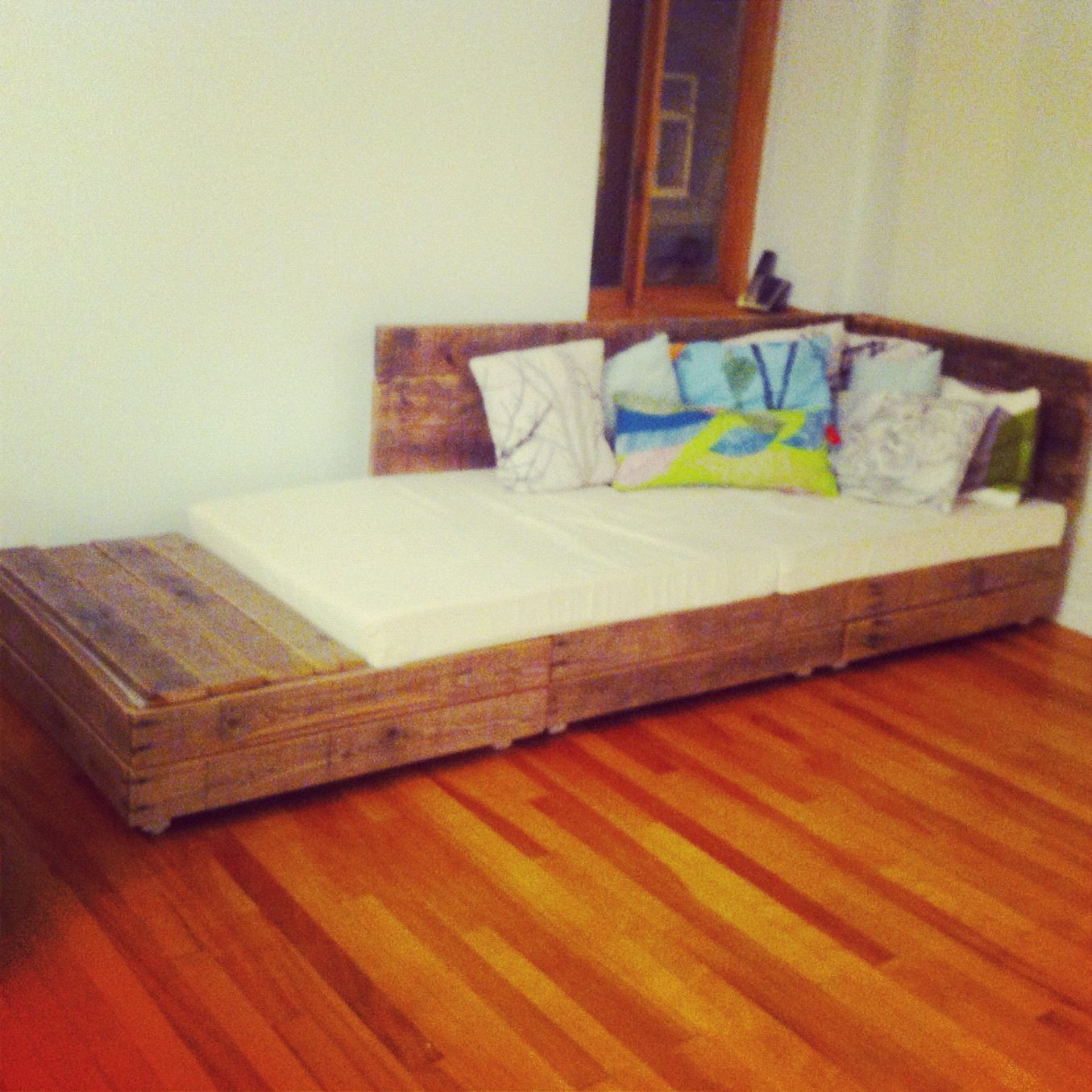 diy daybed sofas portland uk pallet couch sofa bed upcycled salvaged wood pallets