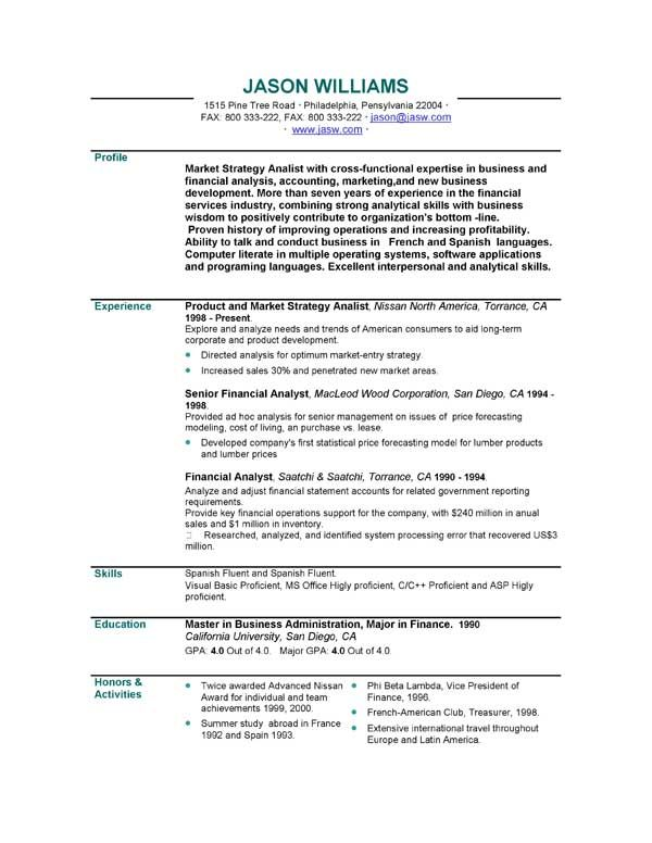Curriculum Vitae Personal Statement Samples