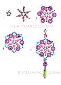 Free pattern for earrings Adriana - 2------------------ U ...