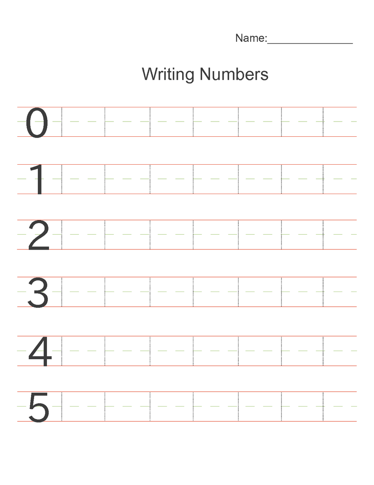 Worksheets For Numbers For Kids For Active Learning