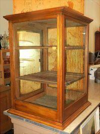 NICE Antique Oak General Store Countertop Display Case ...