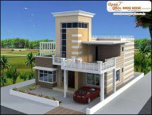 Luxury Duplex 2 Floors House Design. Area 252m2 21m X
