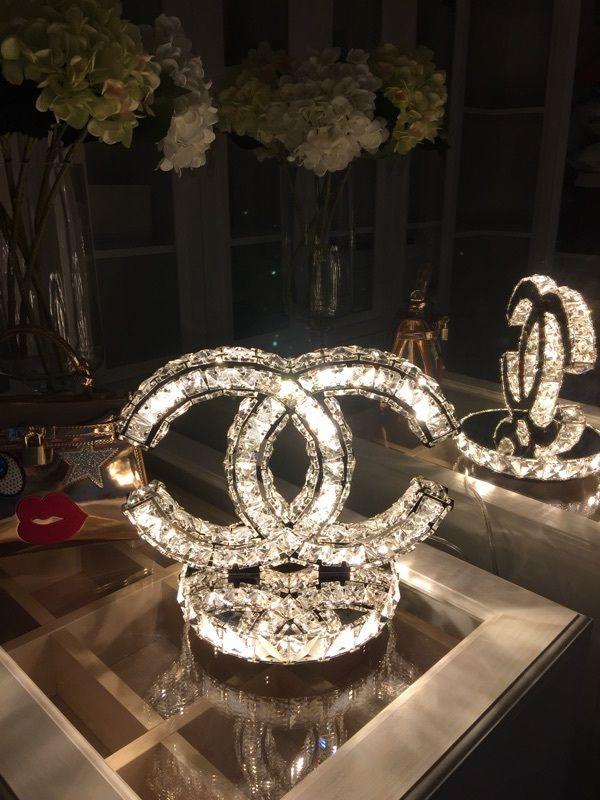 Chanel Table Lamp Chanel Lamp Pinterest Room
