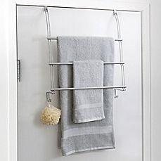 image of totally bath over the door towel bar | storage