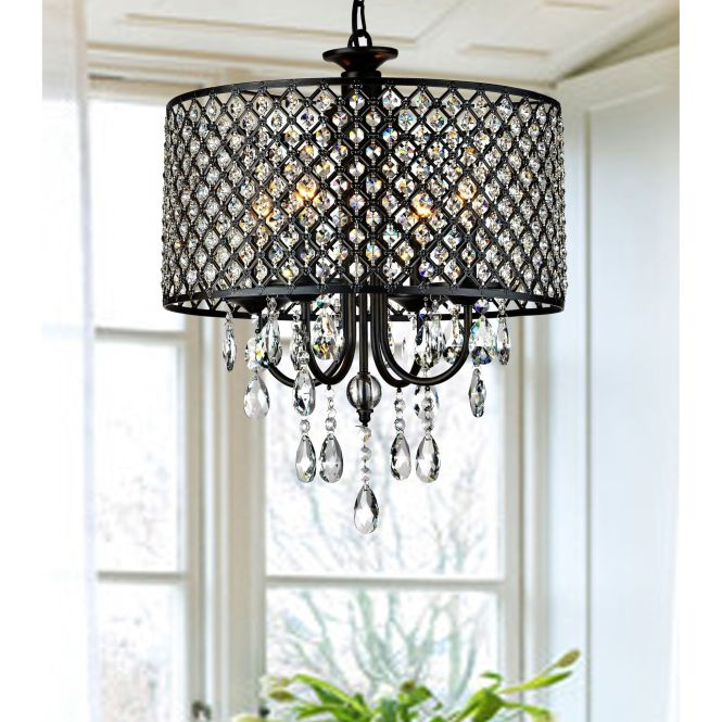 Add A Classy Touch To Your Home Decor With This Round Crystal Chandelier Light