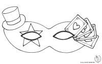 maschere di carnevale | Maschera Carnevale con Cappellino ...