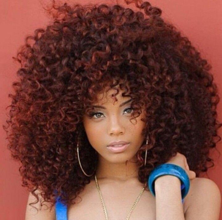 Big Pretty Hair #blackwomen #hairstyle Hairstyles Pinterest