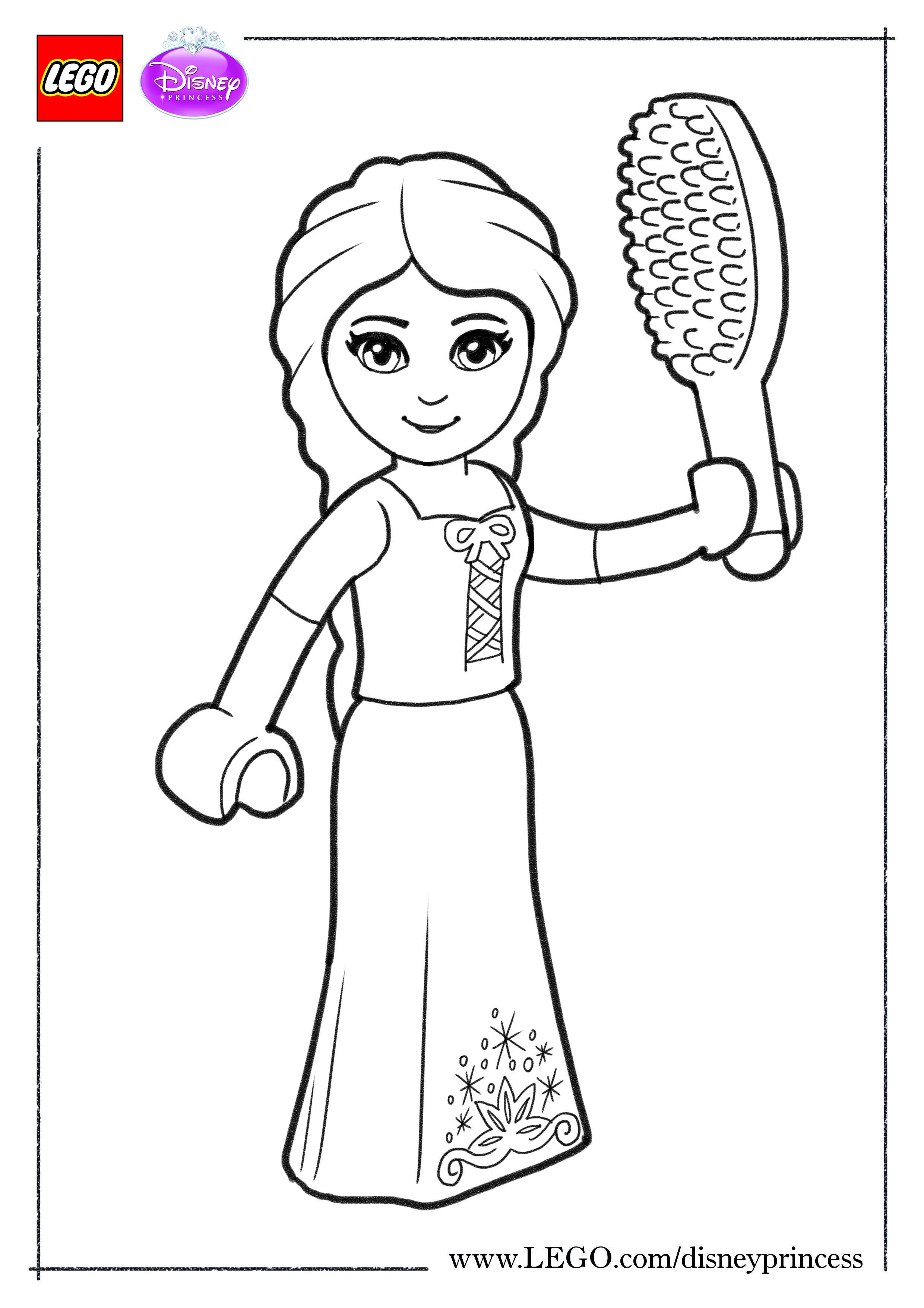 Print and colour our LEGO Disney Princess: #Rapunzel #