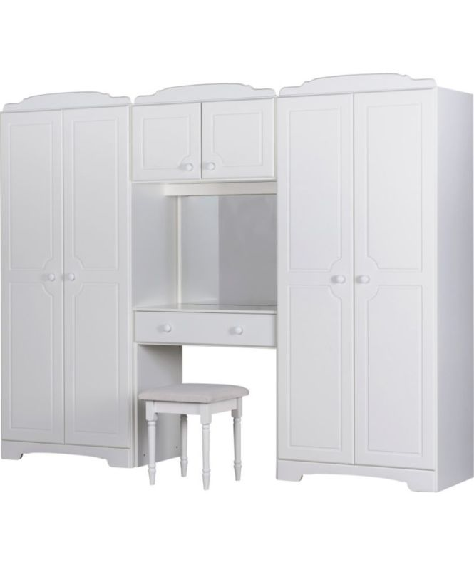 Nordic Wardrobe Fitment And Stool White At Argos Co Uk Your Ed Bedroom Furnitureed