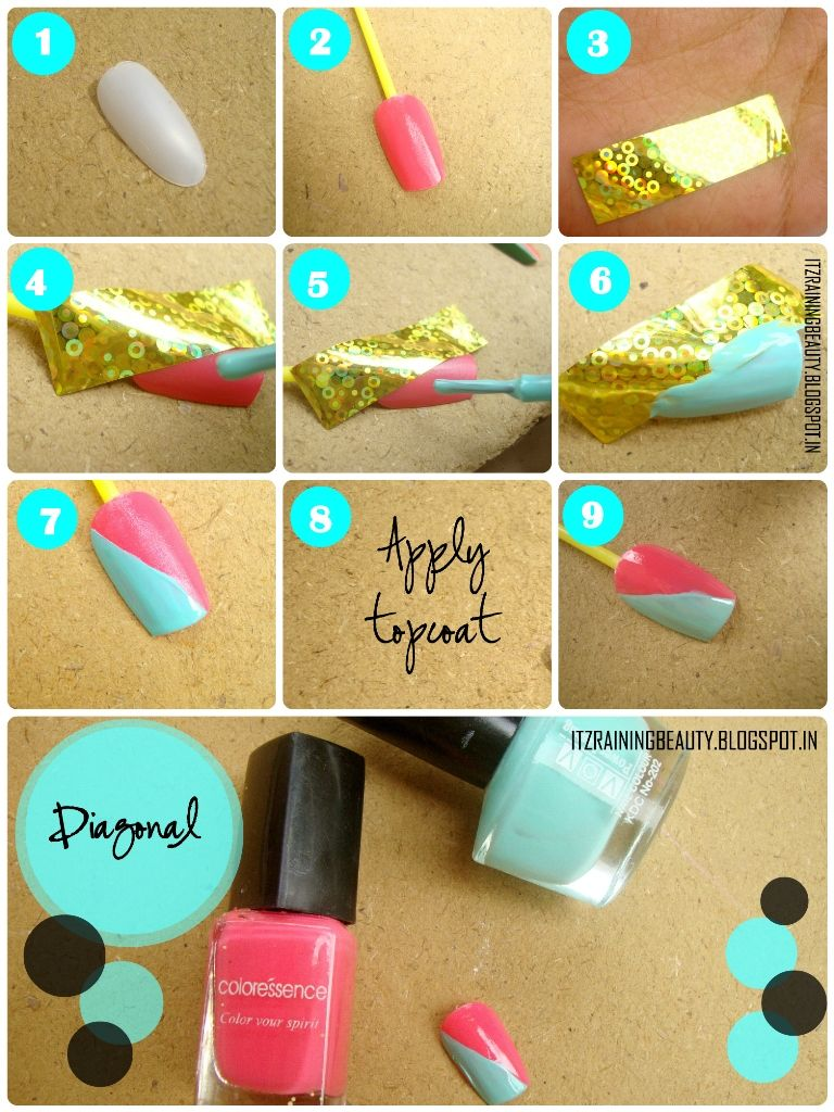 Simple Nail Designs Step By Step With Tape