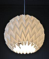 "Origami Paper Lamp Shade / Lantern ""Bubble"" - WHITE ..."