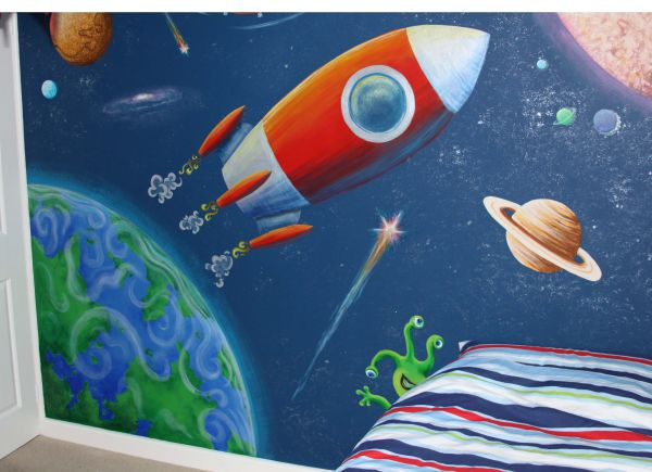 Outer Space Murals Kids Rooms