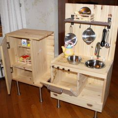 Wooden Play Kitchen Sets Floating Shelves Outdoor For Kids Diy From Ikea