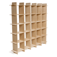 Modern Wood 25 Cubby Bookcase | Baltic birch, Birch and ...