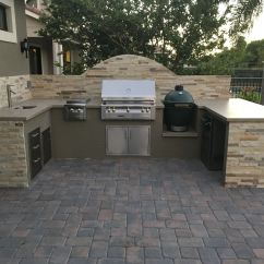 Custom Outdoor Kitchens Small Rustic Kitchen Island With Alfresco Alxe 36 Quot Grill