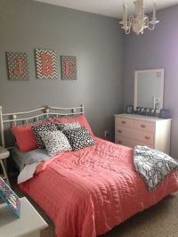 navy blue and coral bedroom - Google Search | bedrooms ...