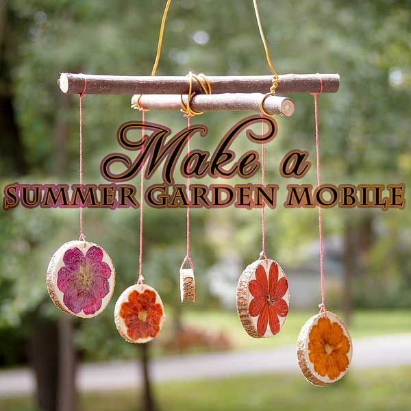Make A Decoupaged Flower Garden Mobile Easy For Kids My