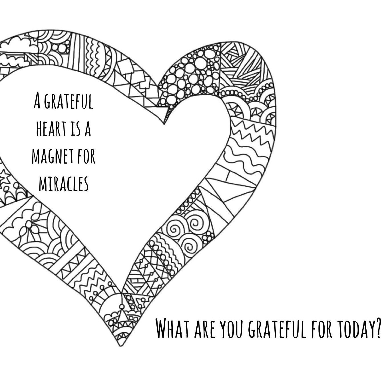 Mindful Colouring pages to help you start a gratitude