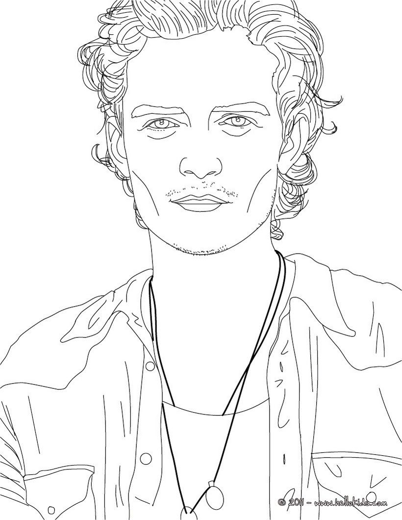 Orlando Bloom coloring page. More famous people coloring