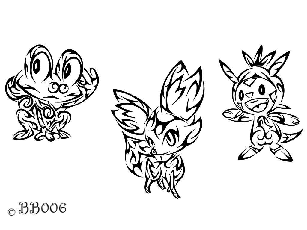 Tribal Starter Pokemon X Y By Blackbutterfly006