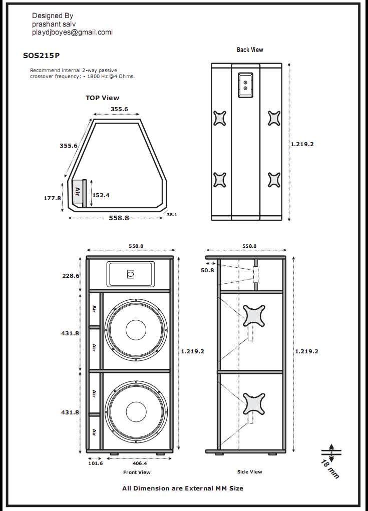 Sos215p Jpg 735 1021 Speaker Plansdiy