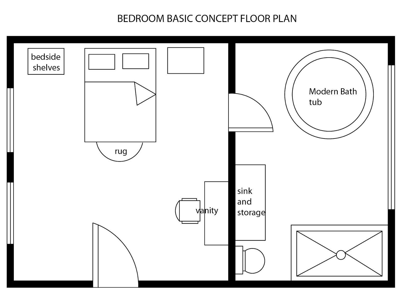 simple 1 bedroom floor plans | design ideas 2017-2018 | pinterest