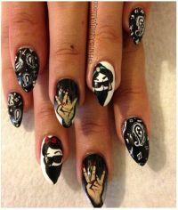 Gangster Jasmine & snow white nail art | Nail Art ...