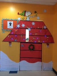 Snoopy Charlie Brown winter Christmas holiday classroom