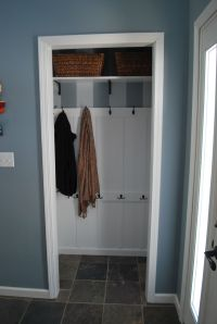 "Turned front hall closet into Entryway ""mudroom"" for less ..."