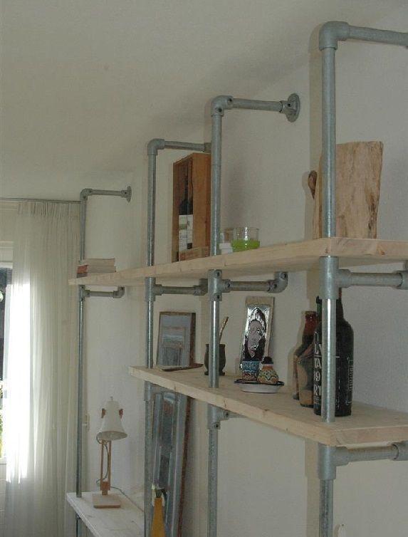 Bookcase scaffolding tube scaffolding wood, Kee Klamp