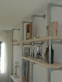 Bookcase scaffolding tube scaffolding wood, Kee Klamp ...