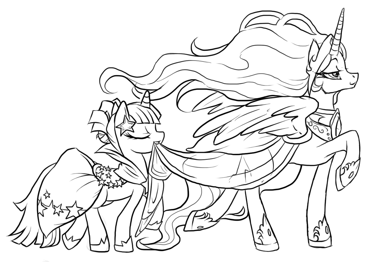 My Little Pony Lineart