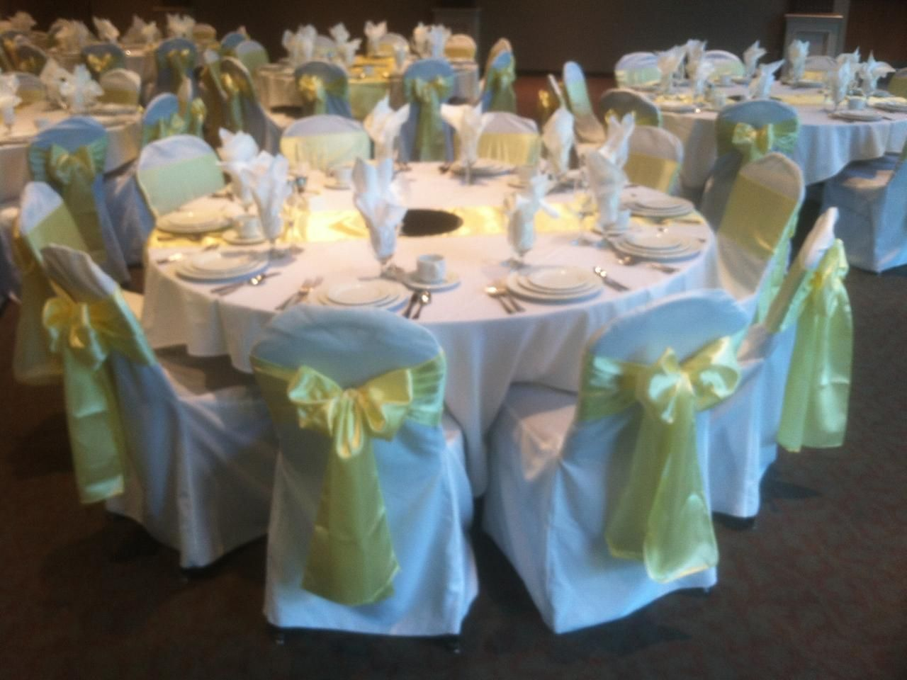 tablecloths and chair covers for rent cover depot code light yellow satin sashe on white wedding
