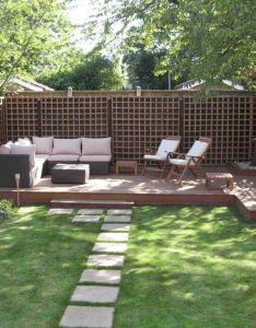 landscape design for small spaces also gardens and decks rh in pinterest